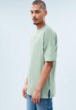 Green Extreme Drop Shoulders T-shirt