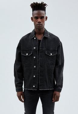 Washed Black Carter Trucker Denim Jacket