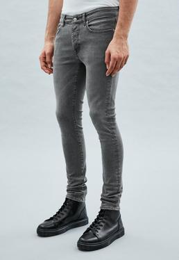 Grey Super-Skinny Cordoza Jeans