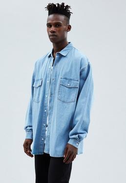 Blue Oversized Denim Shirt