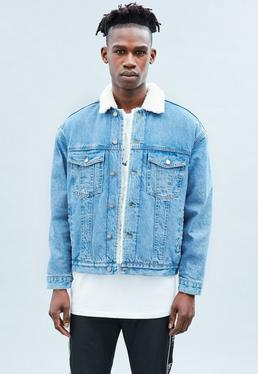 Blue Borg Lined Western Carter Denim Jacket