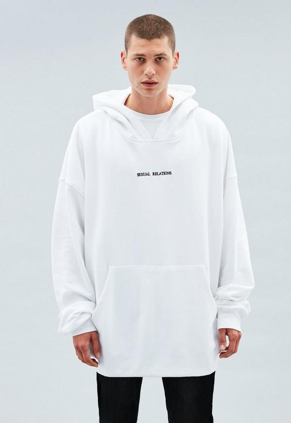 7f5b93783efbf White Embroidered Oversized Hoodie