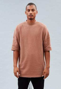 Orange Oversized Waffle T-Shirt
