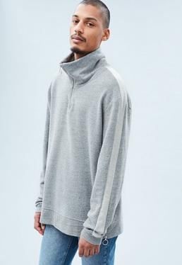 Grey Half Zip Tracksuit Top