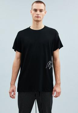 Black Side Signature Regular T-Shirt