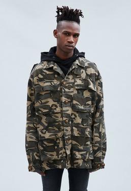 Khaki Camo Field Jacket