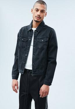 Black Lanscillo Western Denim Jacket