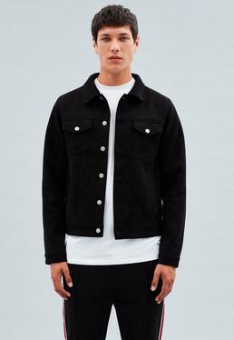 Black Lanscillo Faux Suede Western Jacket