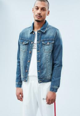 Blue Lanscillo Vintage Wash Western Denim Jacket