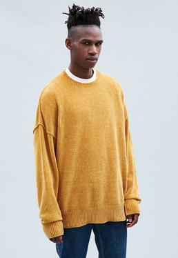 Yellow Montana Dropped Shoulder Chenille Jumper