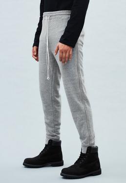 Grey Side Zip Premium Joggers