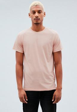 Red Regular Raw Edge T-Shirt