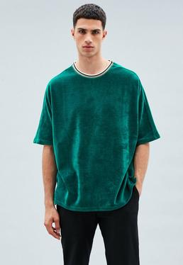 Green Extreme Oversized Velour T-Shirt