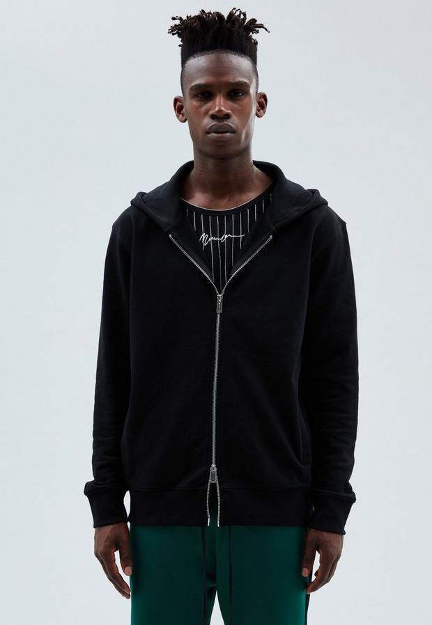 Black Hoodie, Men's, Size L, Black