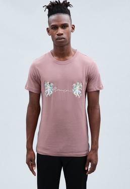 Red Cherub Print Regular T-shirt