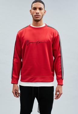 Red Signature Tricot Knit Crew Neck Sweatshirt