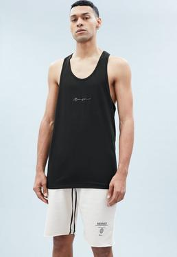 Black Racer Back Vest