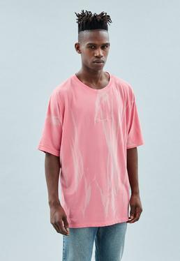 Washed Pink Extreme Oversized Signature T-Shirt