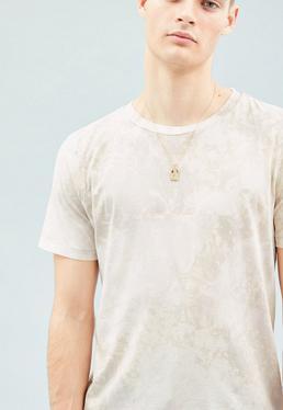 Grey Bleach Washed Regular T-Shirt