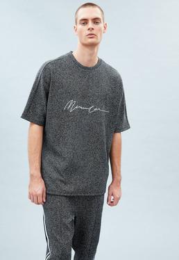 Grey Extreme Oversized Jacquard T-shirt