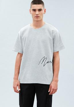 Grey Scuba Side Signature T-Shirt