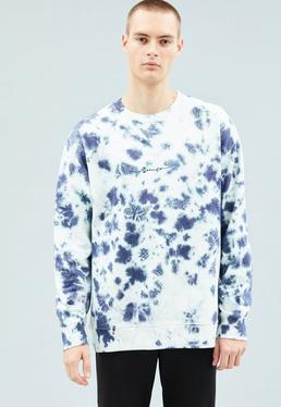 Blue Tie Dye Signature Sweatshirt
