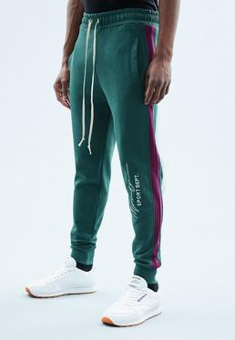 Green Regular Panelling Jogger