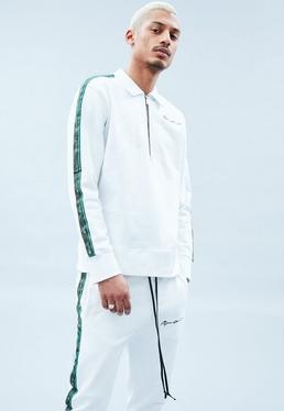 White Half Zip Sweatshirt