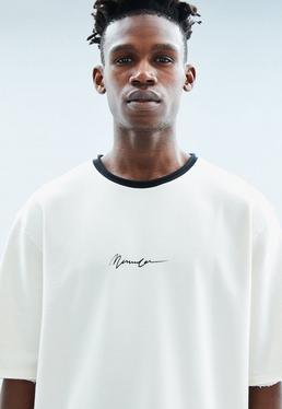 White Boxy Short Sleeve Sweatshirt