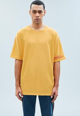 Yellow Extreme Oversized External Branded T-Shirt