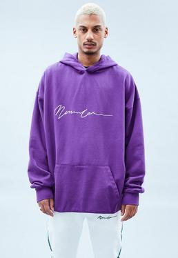 Purple Extreme Oversized Signature Hoodie