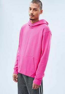 Pink Regular Oversized Hoodie