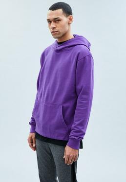 Purple Regular Overhead Hoodie
