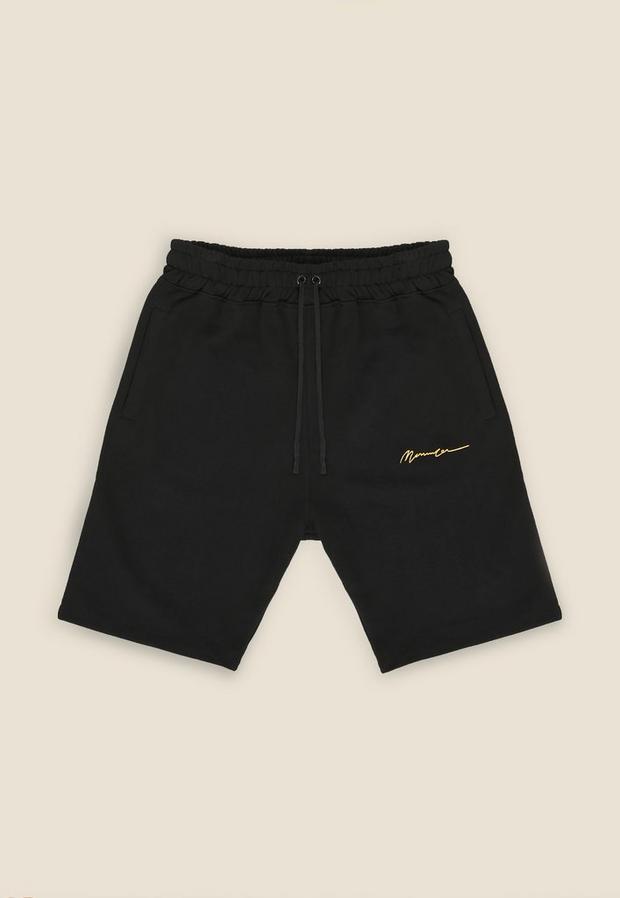 Black Essential Shorts, Men's, Size L, Black