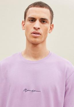 Lilac Signature Washed Relaxed Regular Tee