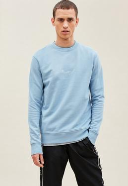 Blue Essential Signature Sweatshirt