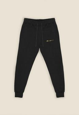 Black Essential Signature Jogger
