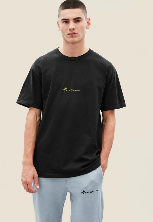 Black Essential Tee, Men's, Size S, Black