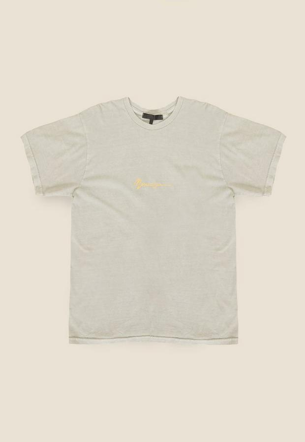 Grey Overdye Essential Tee, Men's, Size L, Beige