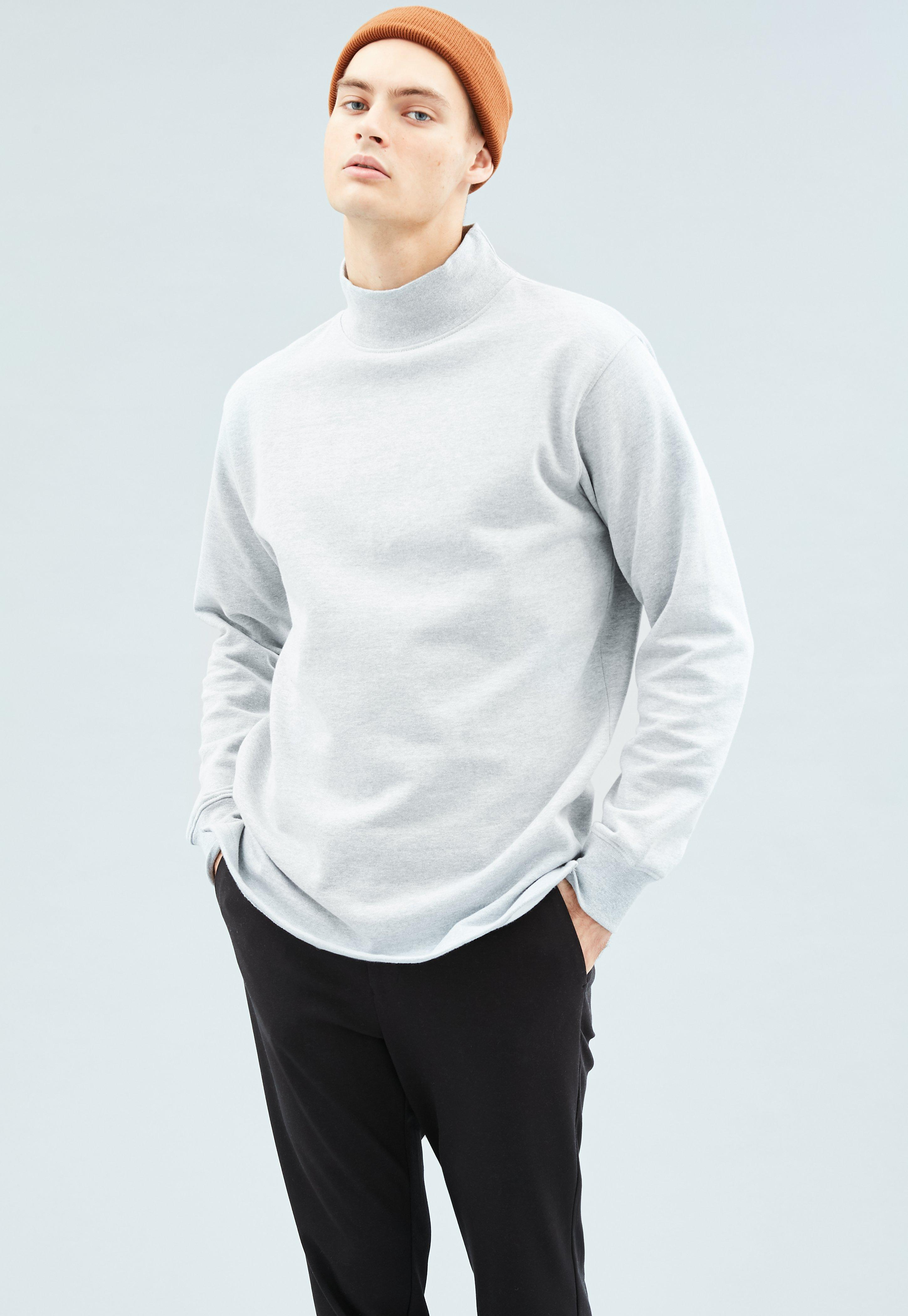 Sweatshirt High Cuffed Mennace Premium Grey Neck xZpUnqB