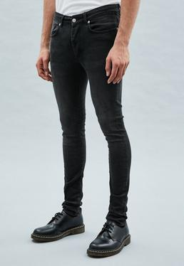 Washed Black Super-Skinny Cordoza Jeans