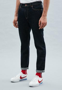 Blue Plain Rise Slim Wallace Jeans
