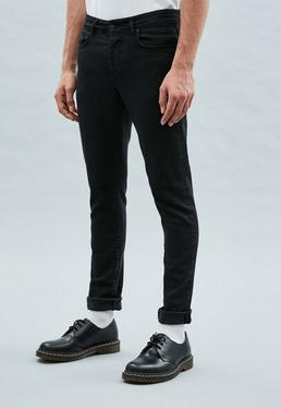 Washed Black Relaxed Skinny Makavelli Jeans