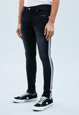 Blue Superskinny Side Stripe Cordoza Jeans