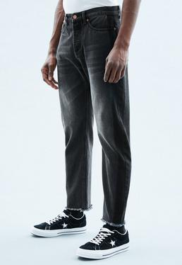 Black Tapered Dara Ghosting Side Stripe Jeans