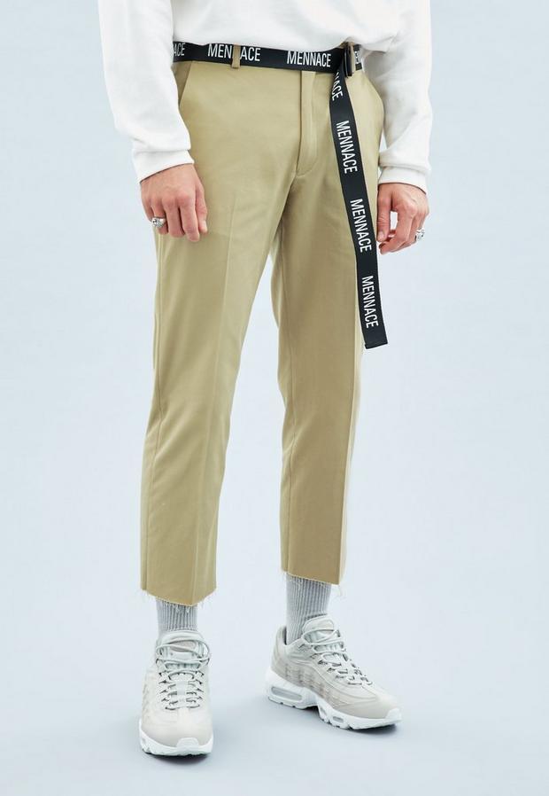 Beige Skater Trousers, Men's, Size 34R, Beige