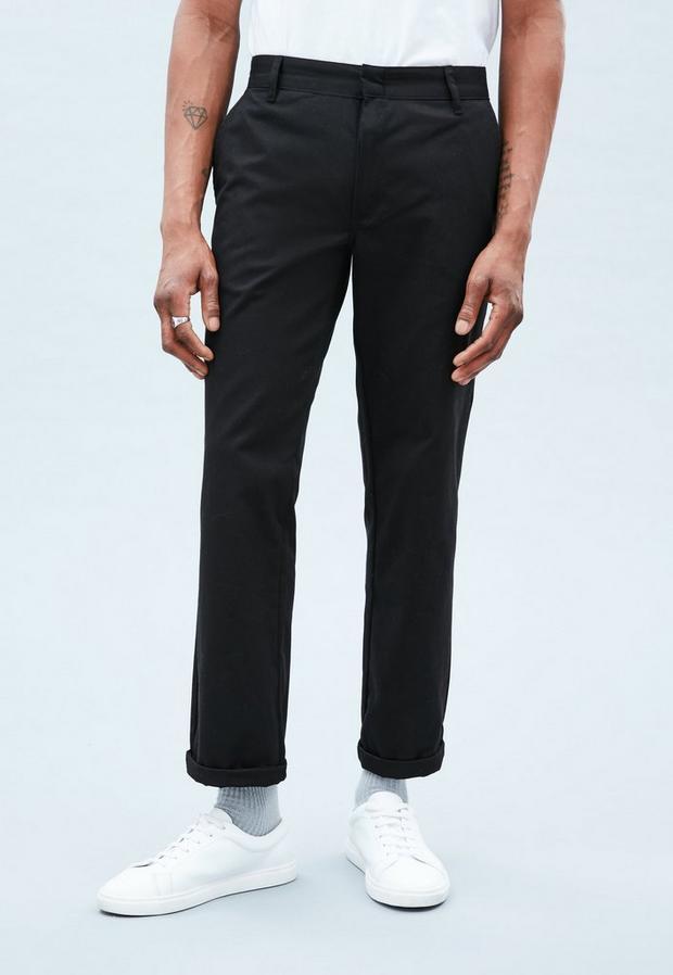 Black Chinos, Men's, Size 28R, Black