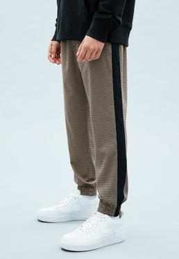 Camel Heritage Check Cuffed Joggers