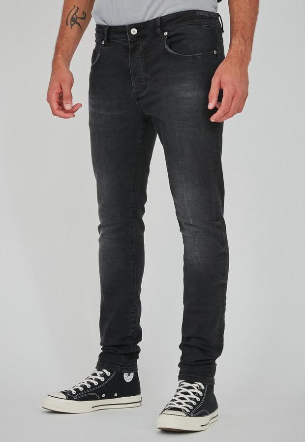 Black Shay Skinny Washed Jeans, Men's, Size 30R, Black