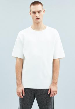 Off White Oversized Premium Knitted T-Shirt